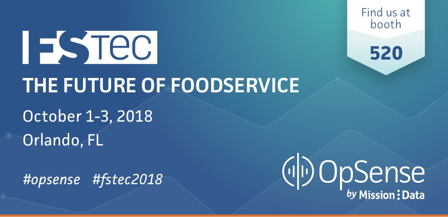 FSTEC The Future of Foodservice. October 1-3, 2018, Orlando Florida. Find us at boot 520